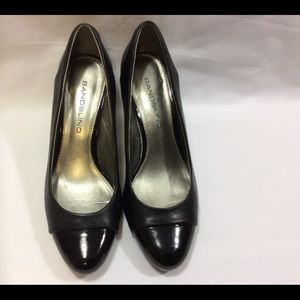 "BANDOLINO ""CUNNING"" BLACK PATENT LEATHER/LEATHER"